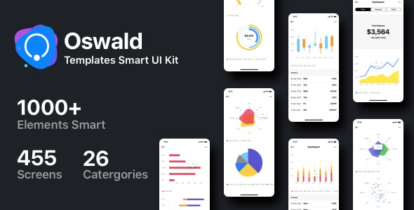Oswald - Templates Smart UI Kit [Figma] - Figma UI Templates