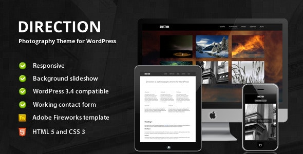 Direction - Photography Theme for WordPress - Photography Creative