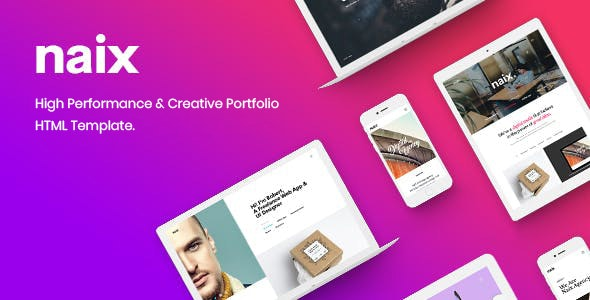 Naix - Multipurpose Agency Portfolio Bootstrap 5 Template - Portfolio Creative