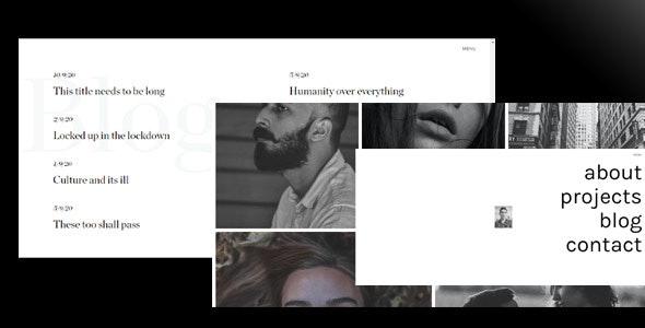 Shein - Minimal Portfolio HTML Template - Creative Site Templates