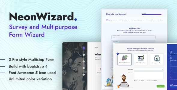 NeonWizard - Questionnaire Multistep Form Wizard - Miscellaneous Specialty Pages