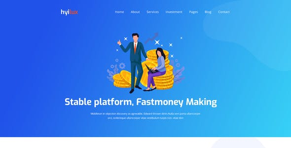 hyilux  - Investment Business PSD Template