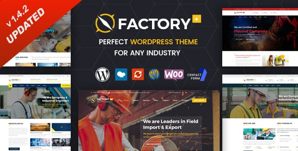 Factory Plus - Industry and Construction WordPress Theme - Business Corporate