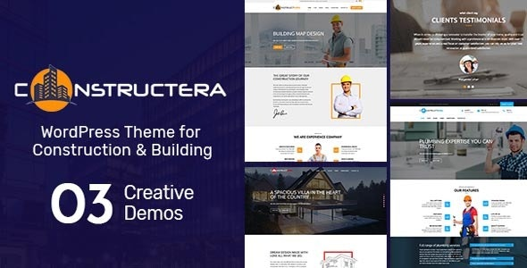 Constructera - Construction & Business WordPress Theme - Business Corporate