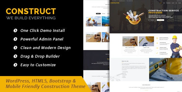 Construct - WordPress Theme for Construction Business - Corporate WordPress
