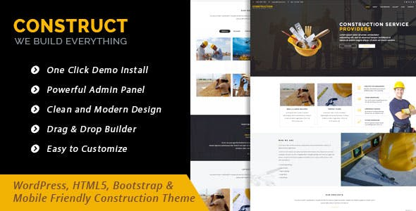 Construct - WordPress Theme for Construction Business