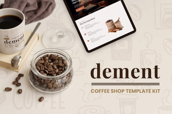 Dement - Coffee Shop Elementor Template Kit - Food & Drink Elementor