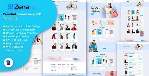 Zenatial - Ecommerce PSD Template - Business Corporate