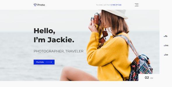 Proto – Photographer Portfolio for Sketch