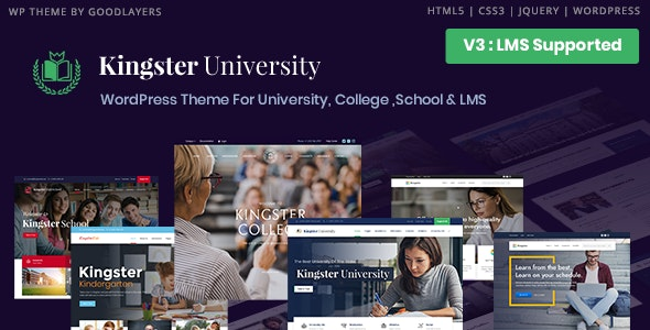 Kingster - LMS Education For University, College and School - Education WordPress
