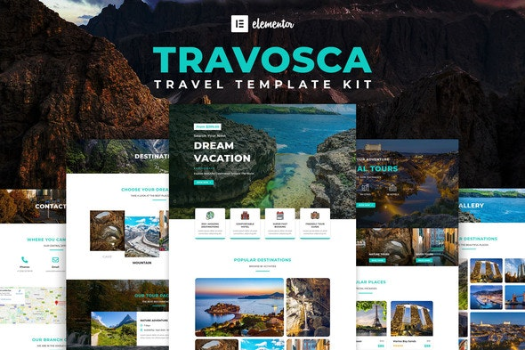 Travosca - Travel Elementor Template Kit - Travel & Accomodation Elementor