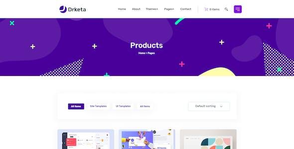 Drketa - Digital Marketplace PSD Template