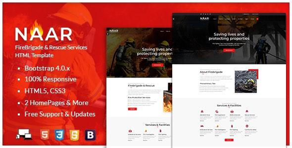Naar - Fire Brigade Responsive HTML Template - Nonprofit Site Templates