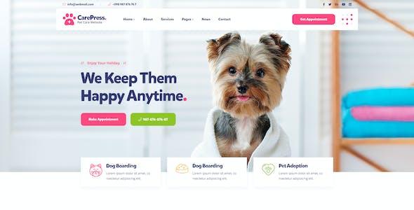 CarePress - Pet Care & Veterinary Shop PSD Template