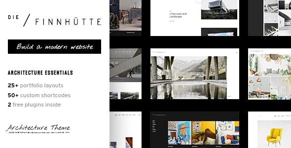 Die Finnhütte - Modern Architecture and Interior Design Theme - Portfolio Creative