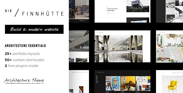 Die Finnhütte - Modern Architecture and Interior Design Theme