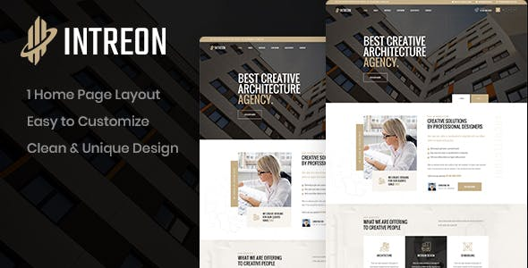Intreon - Architecture PSD Template