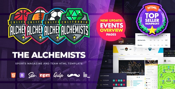 Alchemists - Sports, eSports & Gaming Club and News HTML Template - Nonprofit Site Templates