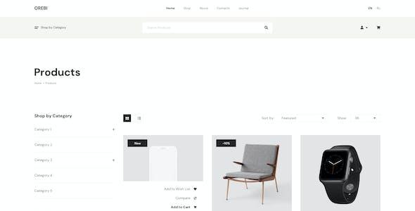 Orebi - Minimal eCommerce Figma Template