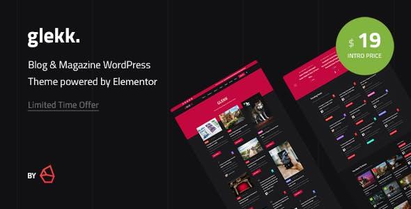 Download Glekk - Elementor Blog & Magazine WordPress Theme