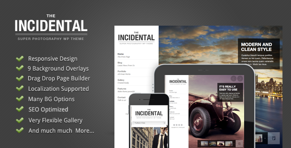 Incidental - High Class Photography WP Theme - Photography Creative