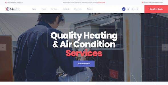Masim - Air Conditioning Repair PSD Template