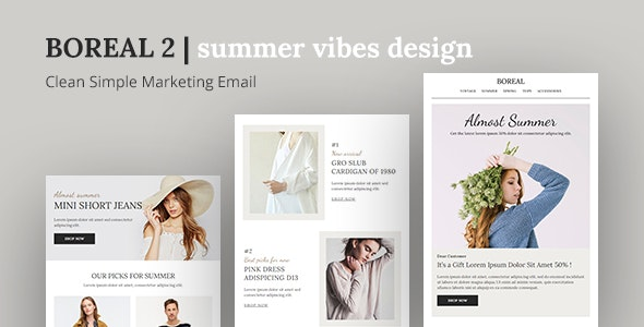 Boreal2 - Responsive Email Template for E-commerce Purposes - Catalogs Email Templates