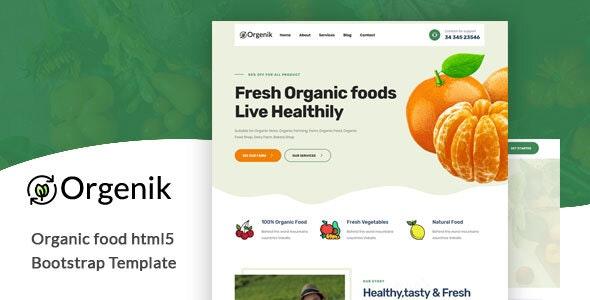 Orgenik v1.0 – Organic Food HTML5 Template