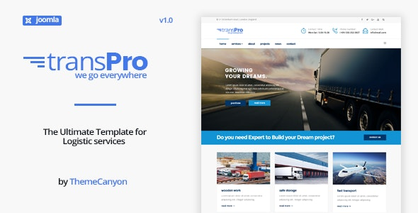 TransPro - Transport & Trucking Logistics Joomla Template - Business Corporate