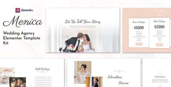Menica - Wedding Elementor Template Kit