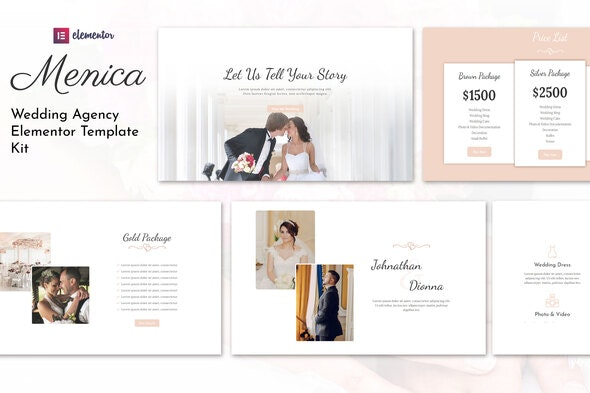 Menica - Wedding Elementor Template Kit - Weddings Elementor