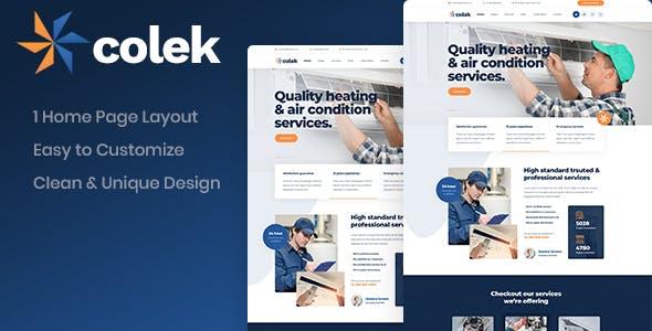 Colek - Air Conditioning Repair PSD Template
