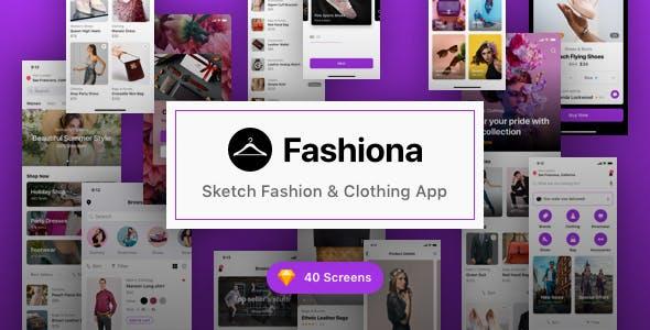 Fashiona - Sketch Fashion & Clothing App