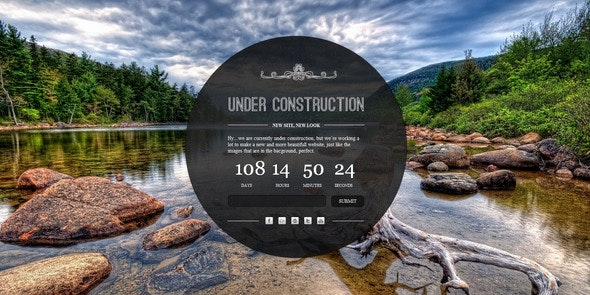 Under Construction - A clean and elegant html5 and - Under Construction Specialty Pages