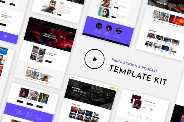 RareRadio | Music & Streaming Elementor Template Kit - Events & Entertainment Elementor