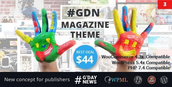 GDN Magazine Theme - News / Editorial Blog / Magazine