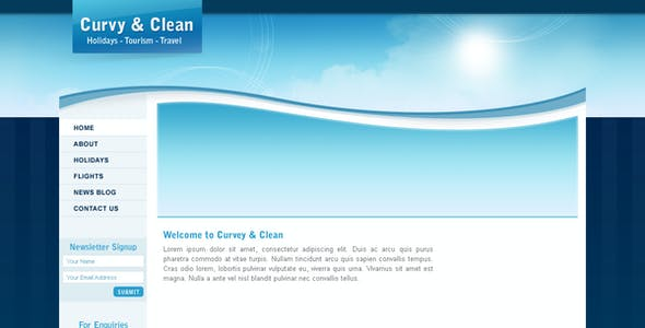 Curvy and Clean Travel Template - HTML