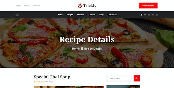 Trickly | Recipe Blog Adobe XD Template