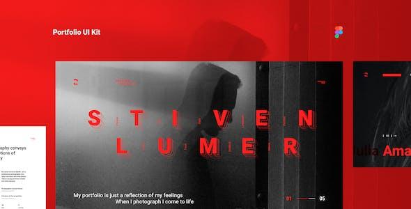 Stiven Lumer - Portfolio UI Kit for Figma