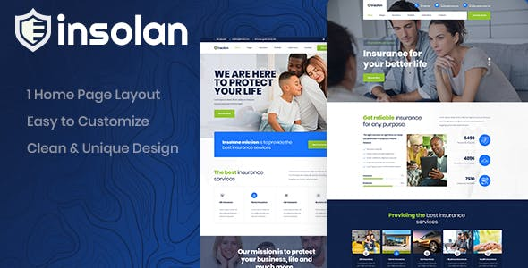 Insolan - Insurance PSD Template