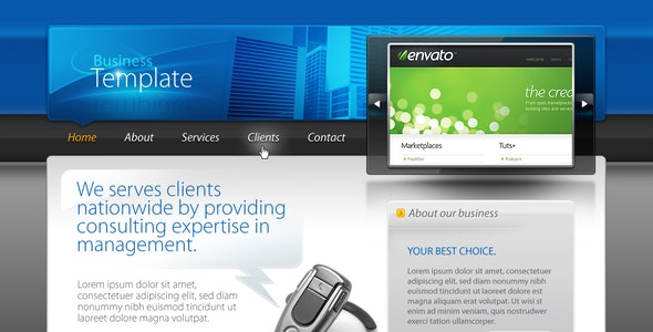 Business Template #01 HTML+CSS+PSD - Business Corporate