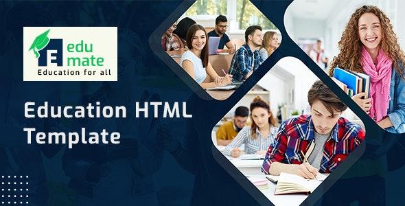 Edumate - Education HTML Template - Nonprofit Site Templates