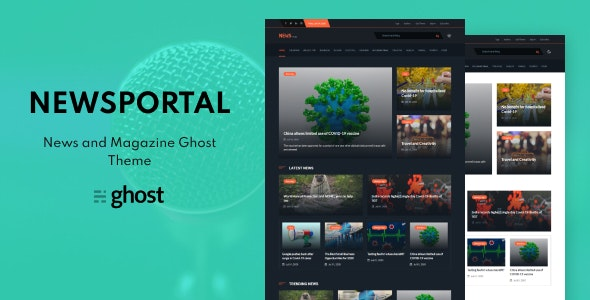Newsportal - News and Magazine Ghost Blog Theme - Ghost Themes Blogging