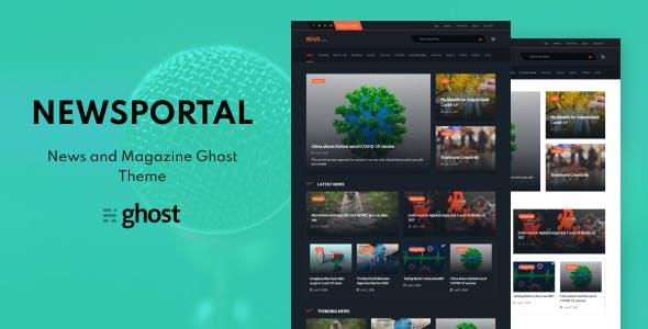 Download Newsportal - News and Magazine Ghost Blog Theme