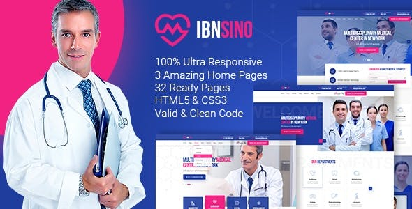 Download IBNSINO Medical Center HTML Template