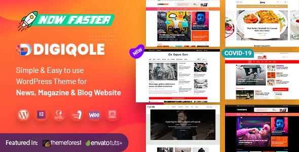 Digiqole - News Magazine WordPress Theme - News / Editorial Blog / Magazine