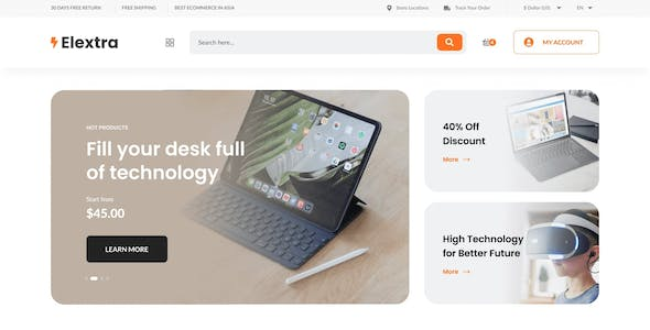 Elextra - Electronic eCommerce PSD Template