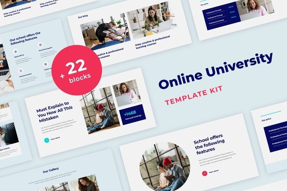 Learnex - Distance Education & Learning Courses Elementor Template Kit - Education Elementor