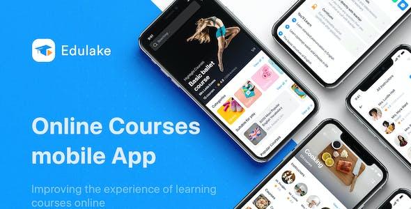 Edulake - Online Course UI Kit for Adobe XD