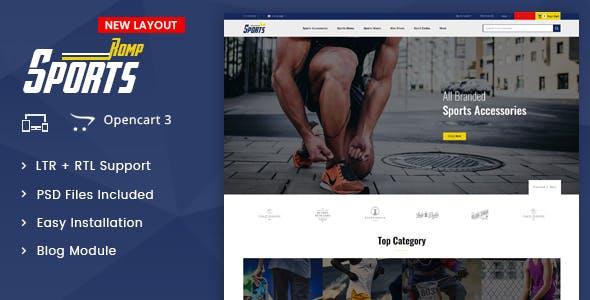 Sports Kit - OpenCart 3.x Multipurpose Responsive Theme